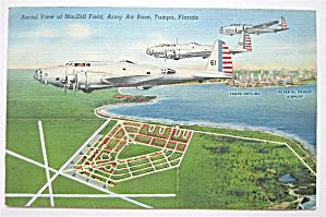Aerial View Of MacDill Field, Tampa, FL Postcard (Image1)