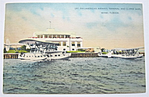 Pan-American Airways Terminal, Miami, Florida Postcard (Image1)