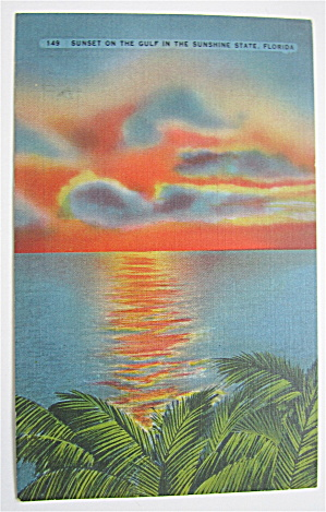 Sunset On The Gulf In The Sunshine State Postcard  (Image1)