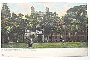 Yale University Postcard (Phelps Hall Gateway) (Image1)