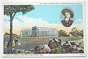Grave Of Buffalo Bill on Lookout Mountain, CO Postcard (Image1)
