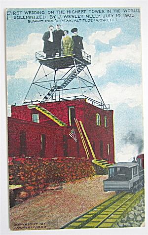 First Wedding On Highest Tower Postcard (Image1)