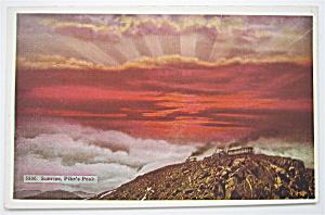 Sunrise At Pike's Peak Postcard (Image1)