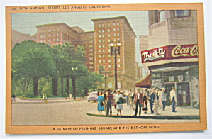 Fifth And Hill Streets, Los Angeles, CA Postcard (Image1)