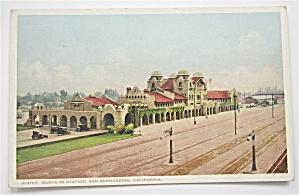 Santa Fe Station (San Bernardino, CA) Postcard (Image1)