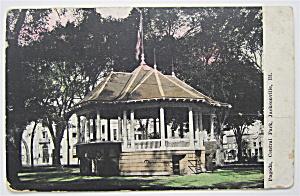 Pagoda, Central Park Postcard (Jacksonville, Ill) (Image1)