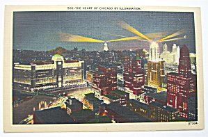The Heart Of Chicago By Illumination Postcard (Image1)