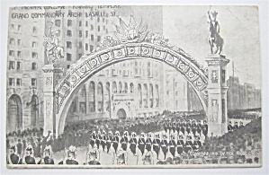 Grand Commandary Arch LaSalle St. Postcard (Image1)