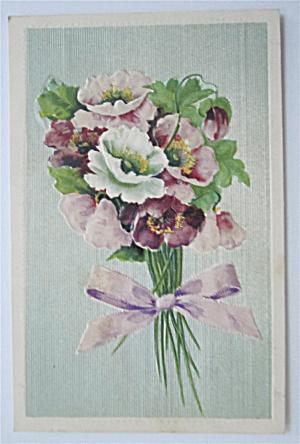 Dark & Light Purple Flowers Postcard (Embossed) (Image1)