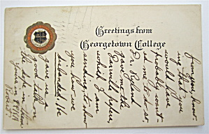 Greetings From Georgetown College Postcard