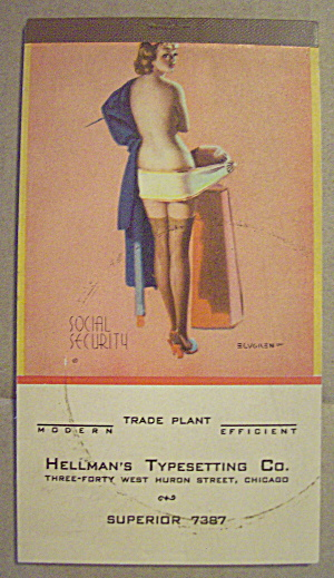 1940's Hellman's Typesetting Advertising Pin up Notepad (Image1)