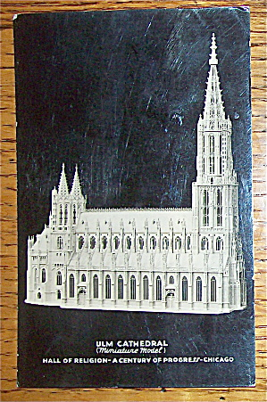 Ulm Cathedral-hall Of Religion Postcard (1933)