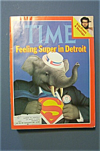 Time Magazine-july 21, 1980-feeling Super In Detroit