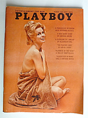 Playboy Magazine-March 1963-Adrienne Moreau (Image1)