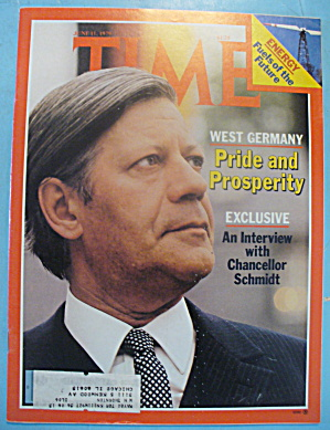 Time Magazine - June 11, 1979 Chancellor Schmidt