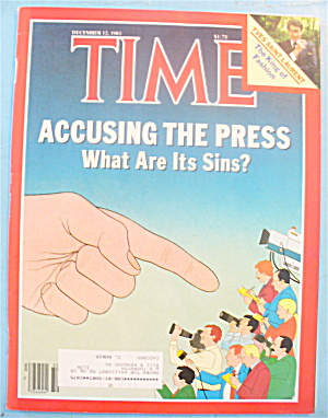 Time Magazine - December 12, 1983 Accuse The Press