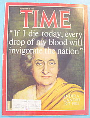 Time Magazine - November 12, 1984 Indira Gandhi