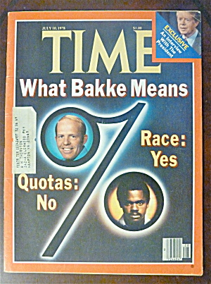 Time Magazine-july 10, 1978-what Bakke Means