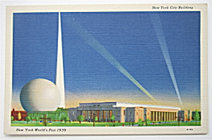 New York City Building, New York World Fair Postcard