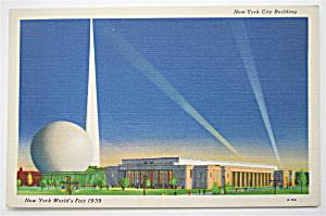 New York City Building, New York World Fair Postcard (Image1)
