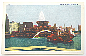 Buckingham Fountain, Chicago World Fair 1933 Postcard (Image1)