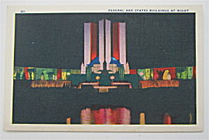 Federal And States Buildings At Night Postcard (Image1)
