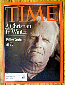 Time Magazine-november 15, 1993-billy Graham At 75