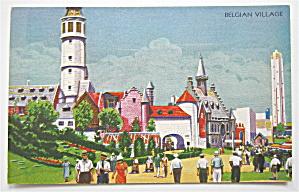 Belgian Village, Century Of Progress Postcard (Image1)