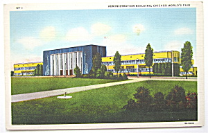 Administration Building, Chicago World's Fair Postcard (Image1)