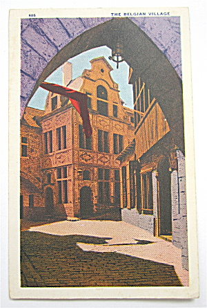 The Belgian Village, Chicago World's Fair Postcard (Image1)
