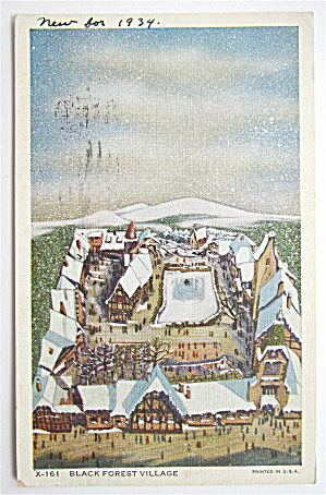 Black Forest Village, Century Of Progress Postcard (Image1)