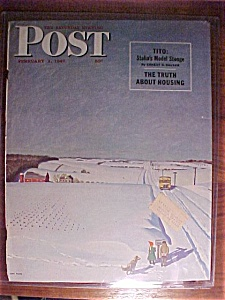 Saturday Evening Post Cover - Falter - February 1, 1947