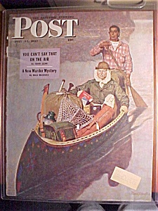 Saturday Evening Post Cover By Schaeffer-july 12, 1947