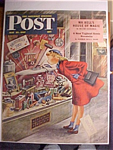 Saturday Evening Post Cover By Constantine-may 10, 1947