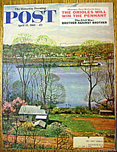 Saturday Evening Post Cover By Clymer-april 15, 1961