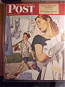 Saturday Evening Post Cover By Hughes - April 17, 1947 (Image1)