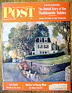 Saturday Evening Post Cover By Clymer-october 20, 1962