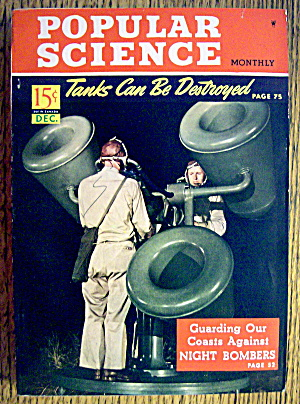 Popular Science Magazine-december 1941-night Bombers