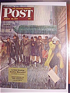 Saturday Evening Post Cover - Falter - March 29, 1947