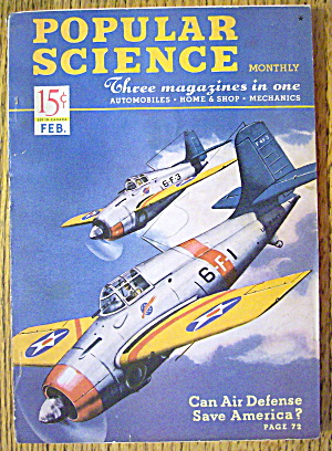 Popular Science Magazine-february 1941-air Defense