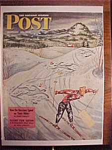 Saturday Evening Post Cover By Alajalov - Jan 25, 1947