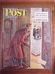 Saturday Evening Post Cover By Alajalov - Feb 21, 1948
