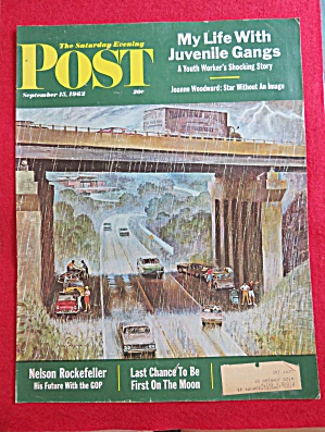 Saturday Evening Post Cover-september 15, 1962-falter