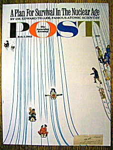 Saturday Evening Post Cover By Falter-february 3, 1962