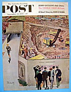 Saturday Evening Post Cover -nov 21, 1959 -thornton Utz