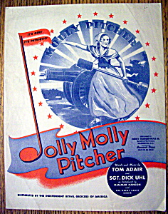 Sheet Music Of Jolly Molly Pitcher By Adair & Uhl