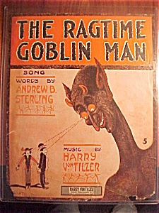 Sheet Music (Cover Only) The Ragtime Goblin Man - 1910