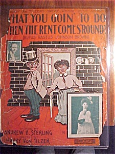 Sheet Music-what You Goin To Do When The Rent Comes