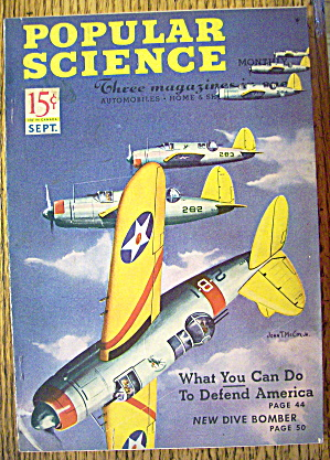 Popular Science Magazine-September 1941-Dive Bomber (Image1)