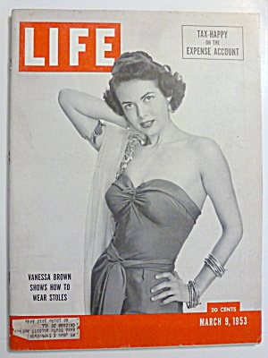 Life Magazine - March 9, 1953 - Vanessa Brown